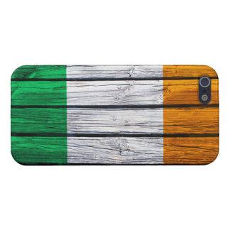 Irish Flag Rustic Wood Case For iPhone 5