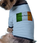 Irish Flag Saint Patrick Dog Tee Shirt
