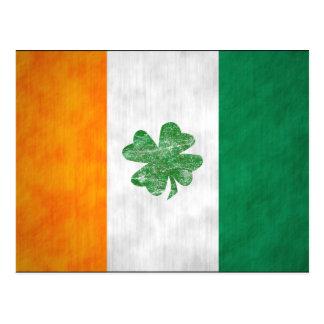 Irish Flag Shamrock Cards 2 Sided Postcard