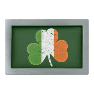 Irish Flag Shamrock Classic St Paddys Day Belt Buckle