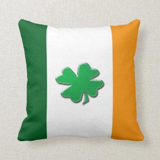 Irish flag shamrock cushions throw pillow