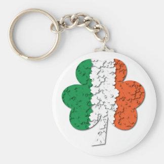 Irish Flag Shamrock Field Keychain #2