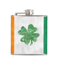 Irish Flag Shamrock Flasks