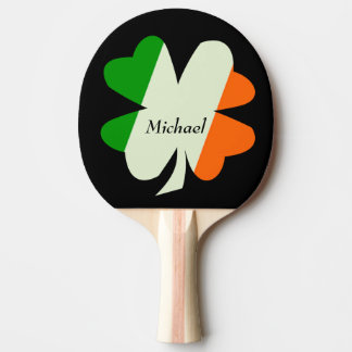 Irish Flag Shamrock Personalized Ping Pong Paddle