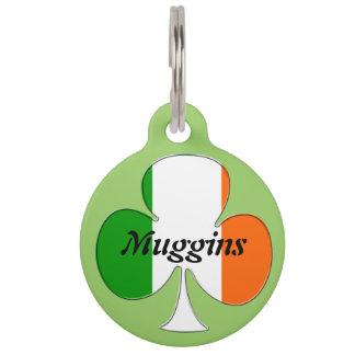 Irish Flag Shamrock Pet ID Tag