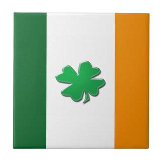 Irish flag shamrock tiles.