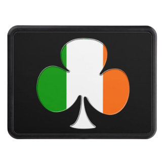 Irish Flag Shamrock Trailer Hitch Cover