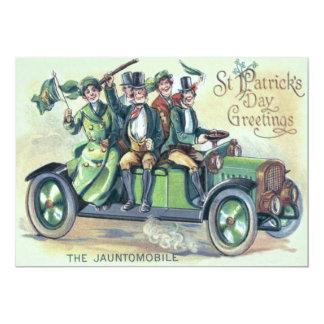 Irish Flag Shillelagh Green Car Shamrock Card