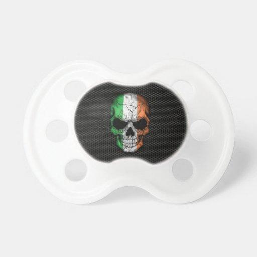 Irish Flag Skull on Steel Mesh Graphic Baby Pacifiers