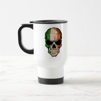 Irish Flag Skull Travel Mug