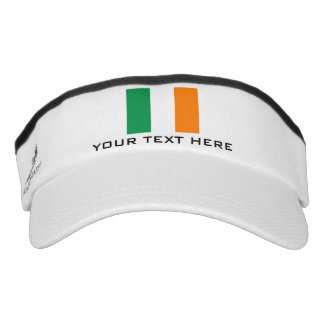 Irish flag sports sun visor cap hat for Ireland Headsweats Visor