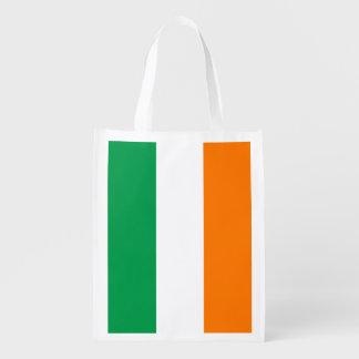 Irish flag St Patricks Day grocery shopping bag