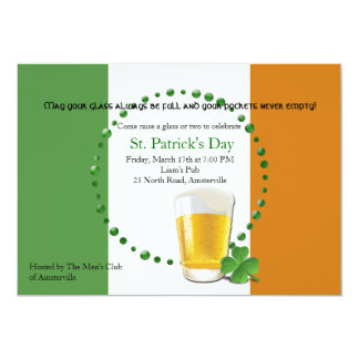Irish Flag St. Patrick's Day Invitation