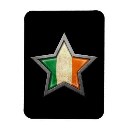 Irish Flag Star on Black Magnet