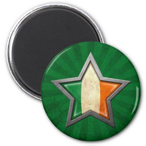Irish Flag Star with Rays of Light Magnets
