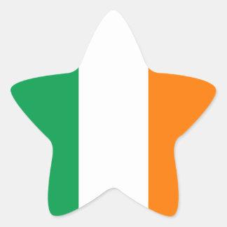 Irish Flag Star Sticker