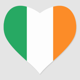 Irish Flag Heart Sticker
