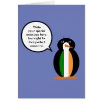 Irish Flag Talking Penguin