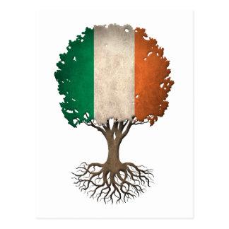 Irish Flag Tree of Life Customizable Postcard