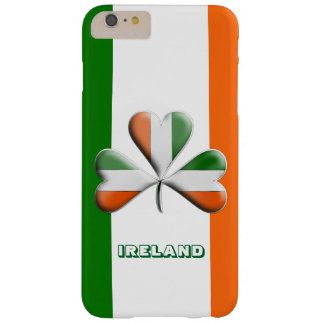 Irish Flag Tri Colors Themed Shamrock Barely There iPhone 6 Plus Case