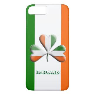 Irish Flag Tri Colors Themed Shamrock iPhone 7 Plus Case