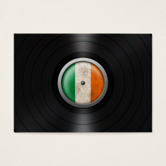 Irish Flag Vinyl Record Album Graphic Business Card