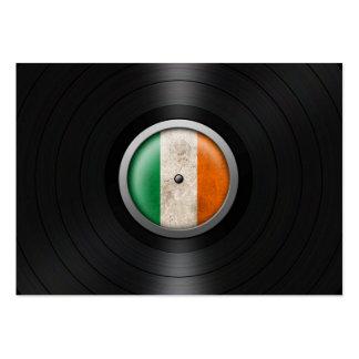 Irish Flag Vinyl Record Album Graphic Large Business Card