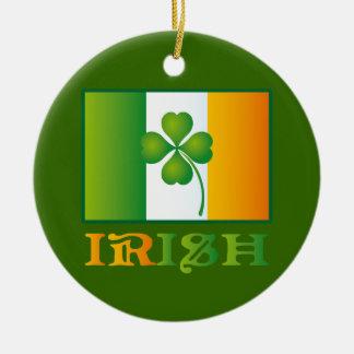 Irish Flag With Clover Ornament Keepsake Gift