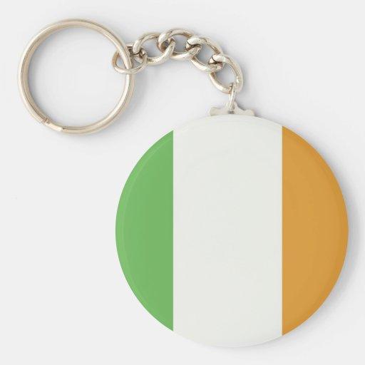 Irish Flag With Shamrock Keychains