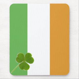 Irish Flag With Shamrock Mousepad