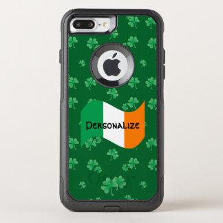 Irish Flag with Shamrocks OtterBox Commuter iPhone 8 Plus/7 Plus Case