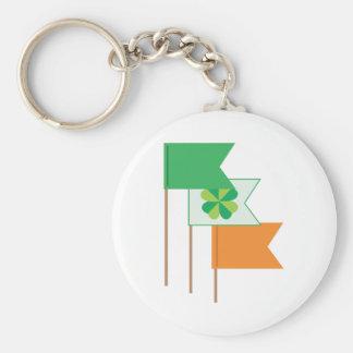 Irish Flags Basic Round Button Keychain