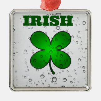 Irish Floating Clover Metal Ornament