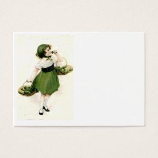 Irish Flower Girl Shamrock Green Business Card