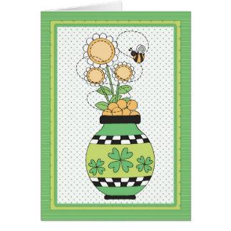 Irish Flower Pot St. Patrick's Day Card