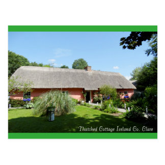 Irish Folk Cottage for postcard