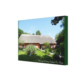 Irish Folk Cottage for wrapped-canvas Canvas Print