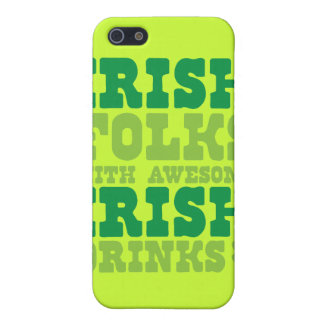 IRISH FOLKS WITH AWESOME IRISH DRINKS COVER FOR iPhone SE/5/5s