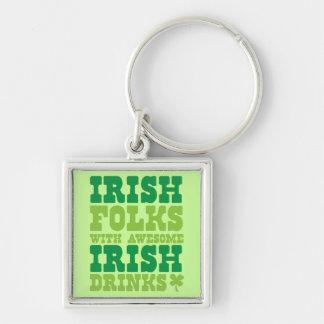 IRISH FOLKS WITH AWESOME IRISH DRINKS KEYCHAIN