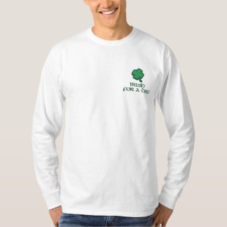 Irish for a Day  Ireland Embroidered Long Sleeve T-Shirt