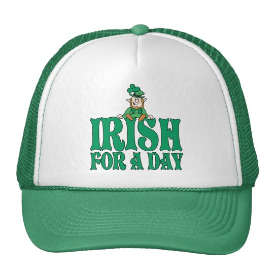 Irish For A Day Leprechaun Trucker Hat