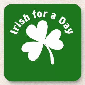 Irish For a Day Shamrock Coaster
