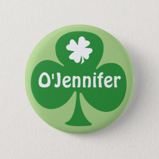 Irish For A Day St. Patrick's Day Party Name Tags Button Personalized