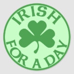 Irish For A Day Stickers