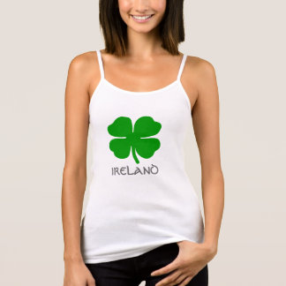 "Irish four leaf clover and title ""IRELAND"". Tank Top"