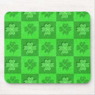 Irish Four-Leaf Clover Mouse Pad
