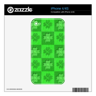 Irish Four-Leaf Clover Skins For iPhone 4S