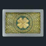 """Irish Four-leaf clover with Celtic Knot Belt Buckle<br><div class=""""desc"""">Irish Four-leaf clover with Celtic Knot</div>"""