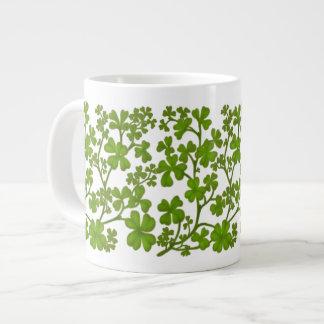 Irish Four Leaf Clovers Mug 20 Oz Large Ceramic Coffee Mug