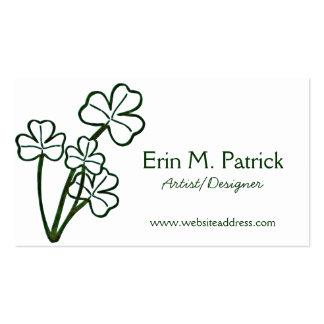 Irish Four Shamrock Plant Business Cards